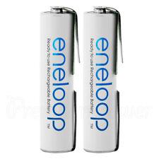 2 x Panasonic eneloop AAA batteries U-SHAPED Solder Tabs 750mAh 1.2V BK-4MCCE
