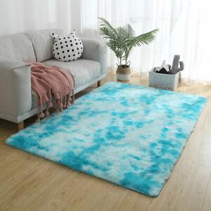 Soft Fluffy Rugs Anti-Skid Shaggy Area Rug Dining Room Home Bedroom Floor Mat