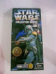 "Star Wars Collector Series BOBA FETT Bounty Hunter 12"" Inch 1996 Kenner Doll NIB"
