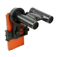 Black Portable Monocular Binocular Scope Telescope Smart Phone Adapter Mount