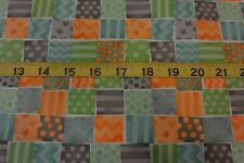 Monkey Business Check Squares Pack Allover Cotton Fabric BTY