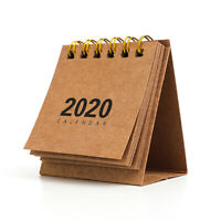 2020 Simple Mini Calendar Timetable Plan Notebook Calendar Multi-function Home