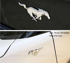 B238 ein paar Pferd chrom Emblem Badge auto aufkleber metall Seite car Sticker