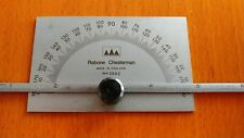 """RABONE CHESTERMAN 0 TO 180° ANGLE PROTRACTOR WITH 0""""-6"""" DEPTH GAGE"""