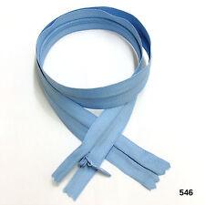"""46 Cm Calidad Zip Nylon Extremo Abierto *** Cremallera Azul Marino 18/"""""""