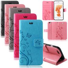 Handy Tasche Handyhülle Wallet Schutz Hülle Blumen Flip Cover Buch Case Etui