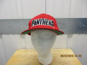 VINTAGE STARTER CLASSIC NHL FLORIDA PANTHER AUTOGRAPHED RED SEWN SNAPBACK CAP