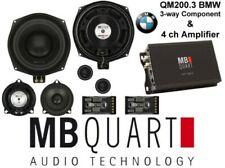 MB Quart Altavoces Y 4ch Amp Para BMW Altavoces Recto Fiit QM200.3+NA1-320.4