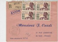 Rep Du Congo 1969 Regd Airmail Kelle Cancels African Lady Stamps Cover Ref 32529