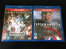 Marvel Captain America BLU RAY 3D Double Pack (First Avenger & Civil War)