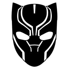 Decal Vinyl Truck Car Sticker - Marvel Comics Avengers Black Panther Head