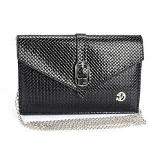 Black Cell Phone Cross-body Shouler Bag For iPhone 7 Plus / Samsung Galaxy S8
