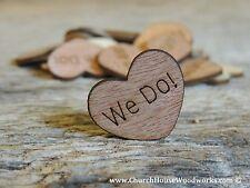 "100 qty 1"" We Do Wood Hearts Table Confetti Wooden Wedding Decor Embellishments"