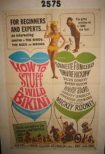 How to Stuff a Wild Bikini Original 1sh Movie Poster 1965 sexy Annette Funicello