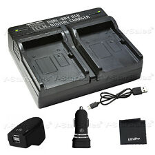 PTD-77 USB Dual Battery AC/DC Rapid Charger For Canon BP 718, BP 727