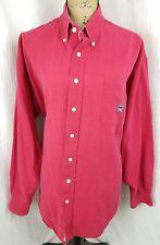 Mens Cinch Red Long Sleeve Western Rodeo Cotton Dress Shirt Size XL