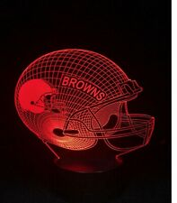 3D illusion lamp light Cleveland Browns baker mayfield Odell Beckham dawg pound