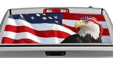 Truck Rear Window Decal Graphic [US Flag 1 Eagle & Bandana] 20x65in DC28206