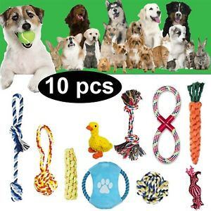 Dog Puppy Chew Toys Braided Teeth Dental Cleaning indestructible Rope Pet Toys