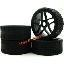 New 4pcs RC 1/8 On road Buggy Tires Hex 17mm Wheels for Redcat HPI Racing Car