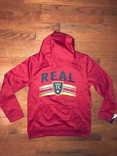NEW Real Madrid MLS Red Soccer Hoodie Sweater Sweatshirt (Youth 10-12 Medium)