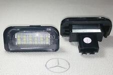 2x LED LICENSE NUMBER PLATE LIGHT MERCEDES BENZ W203 4D CANBUS MATRICULA TARGA