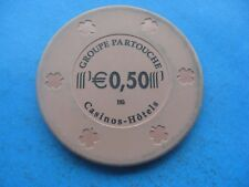 Knokke CASINO 'HOTEL GROUPE partouche $0.50 chip token Coin G