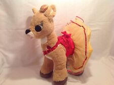 "Build A Bear Plush 14"" Rudolph Clarice Christmas Reindeer w/ Light Up Heart! S5"