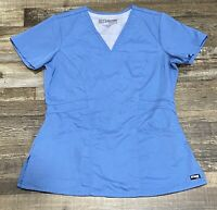 Greys Anatomy Womens Scrub Top Blue Size Small Gently Used Medical Nurse