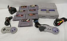 Super Nintendo Entertainment System Bundle SNS SNES 7 Game DK Primal Rage & More