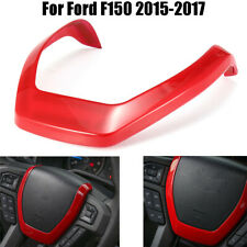 Red Steering Wheel Panel Moulding Cover Trim Decor For Ford F150 2015 2016 2017