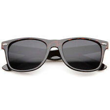 zeroUV Retro Wide Temple Horn Rimmed Sunglasses