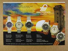 1992 Franchi Menotti ALACRON Watch blue white black dials photo vintage print Ad