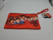 One Direction Girls Purse Makeup Wrist Tote Bag Handbag red 1D