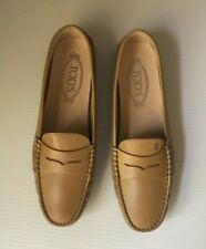 TOD'S Women's Gommino Driving Shoes in brown/camel Leather 38.5