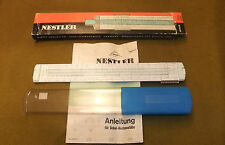 Nestler Nr.0254 Delta Slide Rule, Boxed, with Instructions, Good Condition.