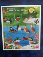ANTIGUA BARBUDA MAIL 1997 BIRDS - DUCKS 12v MINIATURE SHEET MNH MINT