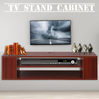 TV Stand Center Media Cabinet Console Wide Storage Modern Entertainment Flat WF