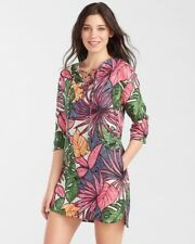 NWT TOMMY BAHAMA Floral Linen Lace Up Tunic Dress Small $138