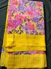 georgette floral SARI SAREE INDIA TRADITIONAL ETHNIC WEDDING FESTIVE BEAUTIFUL