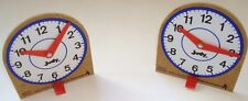 2 JUDY INSTRUCTO CLOCK MATH HOMESCHOOL TEACHER RESOURCES LEARN TO TELL TIME NEW