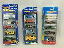 Hot Wheels Gift Packs Lot of 3 HW Flames, Truck Stoppers, Crazy Classics III