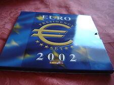 (DA 01) COFFRET 2002 DE 12 X 1 € + DANEMARK ET ESPAGNE 5 €  COMMEMORATIVES