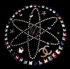 CHANEL Crystal Space Stars Orbit 2017 CC Logo Resin Pin Brooch New w/ Box