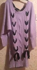 Vestido de encaje púrpura Lila De Punto Suéter largo/hasta Cinta-yumetenbo/dreamv-gyaru