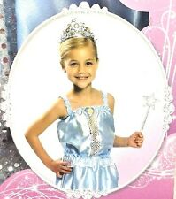 PRINCESS Cinderella Disney Dress Up Halloween Costume Set 4-6x Skirt Tiara Wand