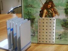 6 gebürstete Edelstahl Buchstützen,auch für CD,DVD usw.