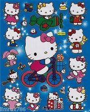 HELLO KITTY RIDE BICYCLE SCRAP BOOK STICKERS OR ROOM DECOR HQ (BUY 5 MIX FREE 1)