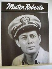 MISTER ROBERTS Souvenir Program TOD ANDREWS / LARRY BLYDEN Tour 1954