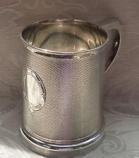Boccale Sheffield fondo vetro circa 1870 Victorian Silver Plated Tankard
